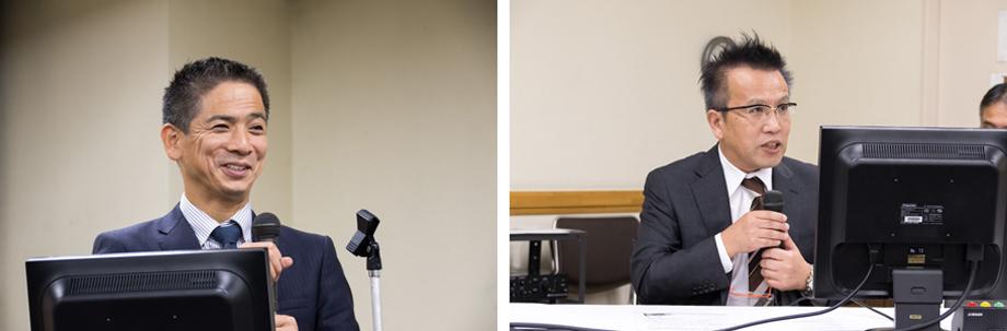 左:[演者] 甲谷理温(山口大学医学部附属病院) 右:[座長] 水村 直(東邦大学医療センター大森病院)